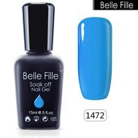 BELLE FILLE 15ml gelpolish nail gel soak off gel lacquer nail varnishes manicure removal of the gel varnish bridal Cosmetics
