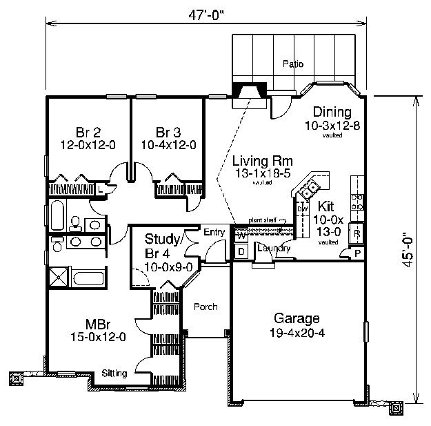 House Layout. Like The Kitchen Placement