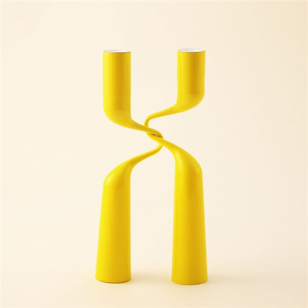 "DOUBLE CANDLE HOLDERS  Set of two interlocking candle holders  Powder lacquered steel  12.5""H x 5.5""W   http://store.comerfordcollection.com/double_candle_holders_p/dblcndlyl.htmLacquer Steel, Interlocking Candles, Holders Powder, Candles Holders, Holders Sets, Double Candleholder, Double Candles, Powder Lacquer, Steel 12 5 H"