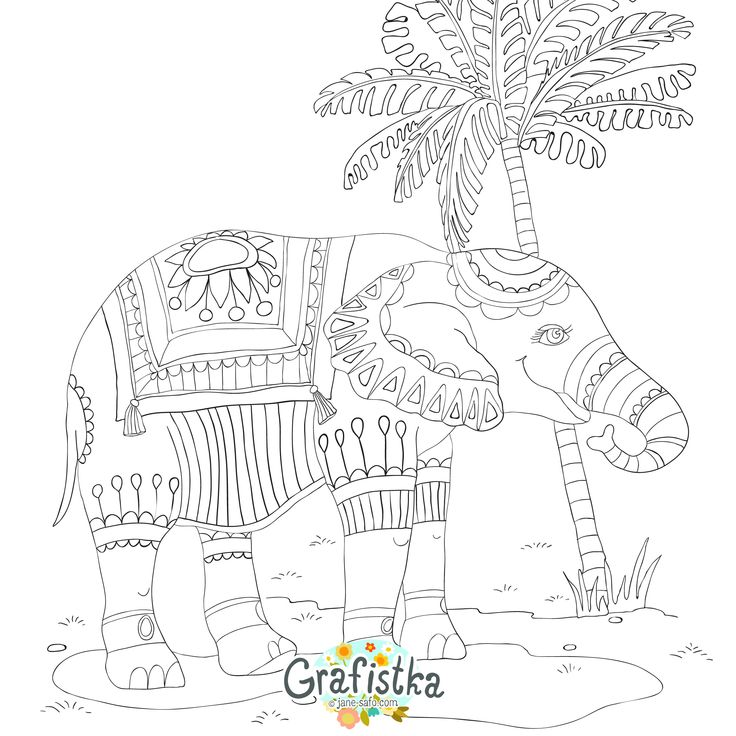 printable tribal elephant coloring pages - photo#35