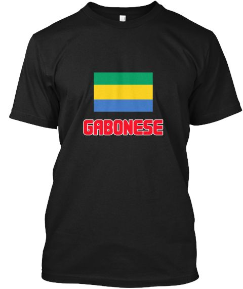 Gabonese Flag Design Black T-Shirt Front - This is the perfect gift for someone who loves Gabonese. Thank you for visiting my page (Related terms: I Heart Gabon,Gabon,Gabonese,Gabon Travel,I Love My Country,Gabon Flag, Gabon Map,Gabon Language, Ga #Gabonese, #Gaboneseshirts...)