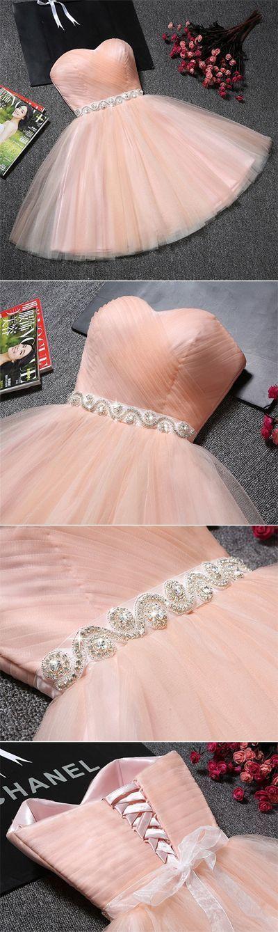 U0056,2017,sweetheart , A-line, pink, formal dress, short prom dress, homecoming dress