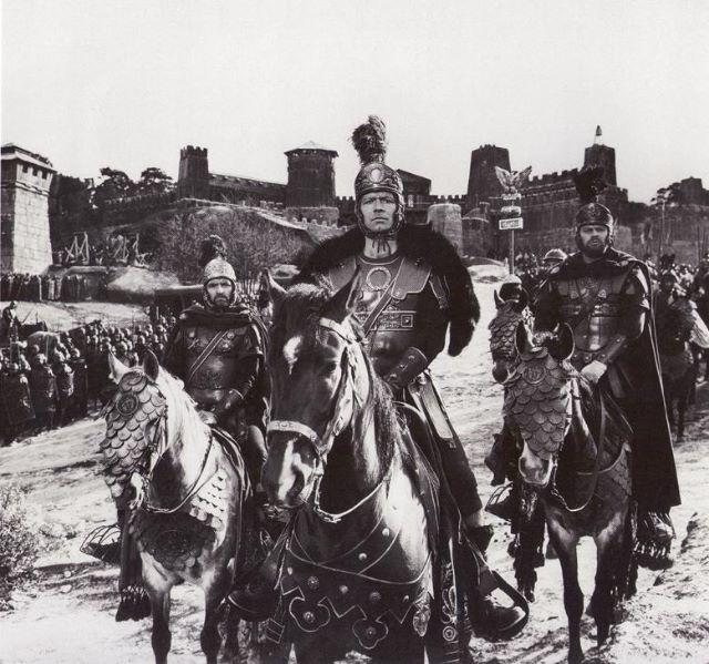 Las Rozas, 2 julio 1963, convertida en la ciudad de Roma para el rodaje de la Caída del Imperio Romano.