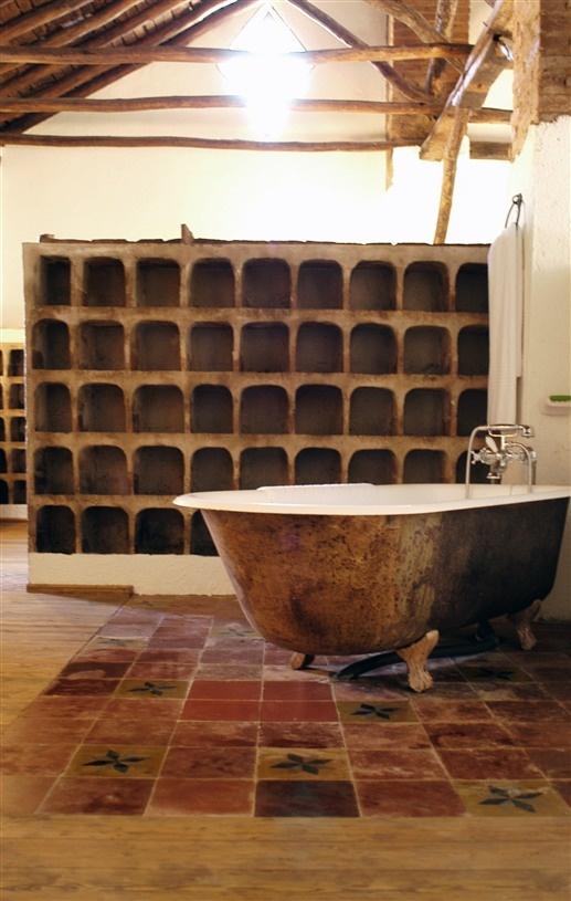Unique bathroom at Cortijo del Marqués in Albolote, Spain