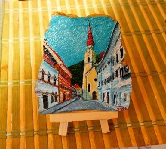 """13 Likes, 3 Comments - Klavdija Bogataj (@klavdijabogataj) on Instagram: """"Tržič, staro mestno jedro #stonepaiting #trzic #rockpainting #oldtown #suvenir #spomincek…"""""""