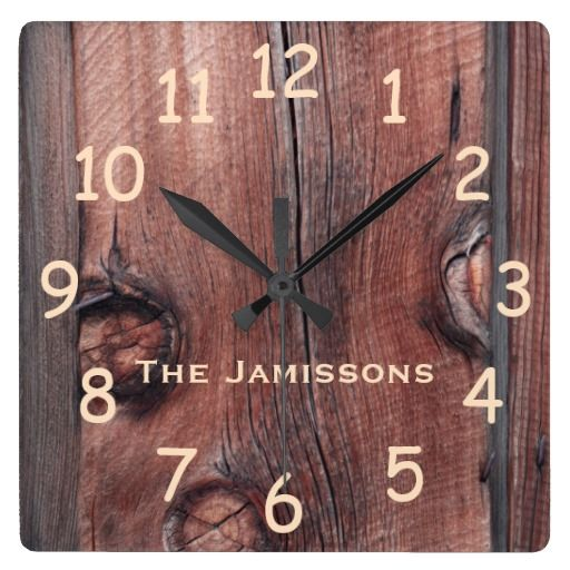 Rustic Old Red Barn Siding, Personalized Clock - This personalized clock is decorated with our original photo of rustic old red barn siding. You can easily change the name. What a wonderful gift for an engagement, wedding, or anniversary. All Rights Reserved © 2016 Alan & Marcia Socolik.