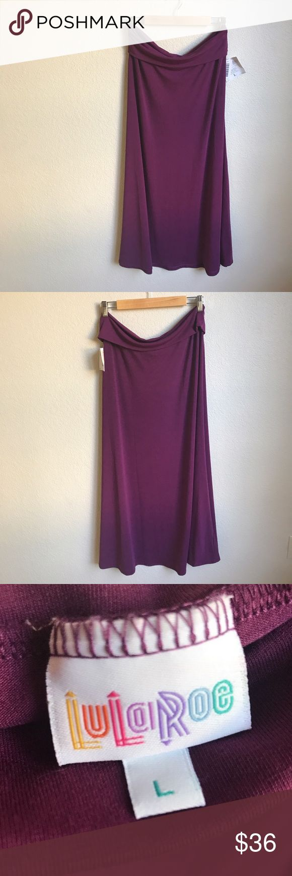 LuLaRoe Solid Purple Maxi Skirt Size Large NWT Brand new with tags LuLaRoe Maxi Skirt in solid purple/plum, size Large. See photos for details and ask any questions prior to purchase.  Thanks! LuLaRoe Skirts Maxi