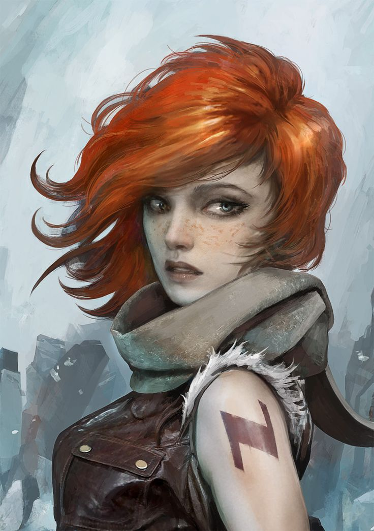 Elia la Passeuse d'Ames (Ginger Ranger Girl), Alexandre Chaudret on ArtStation at https://www.artstation.com/artwork/9kQ8a