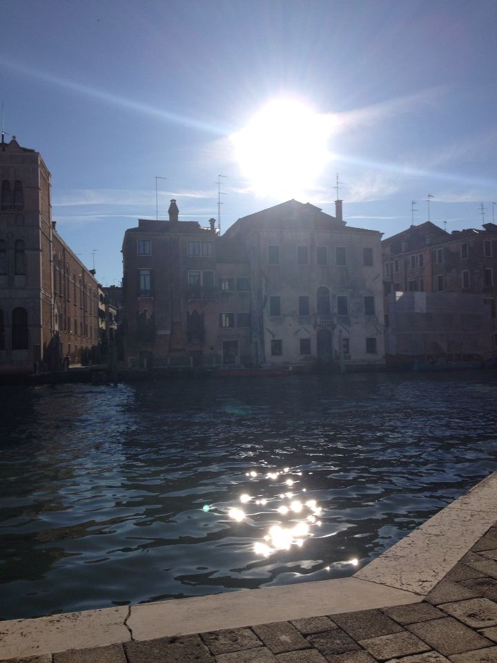 Waiting for the vaporetti with that view! Sunny venice