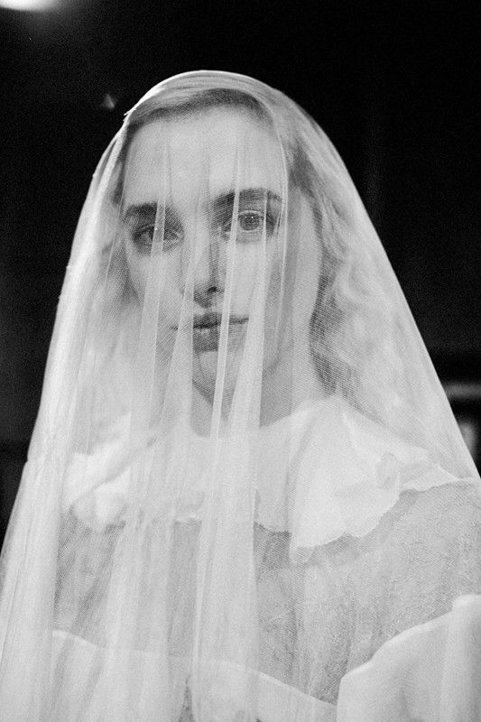 White veils and frills backstage at Meadham Kirchhoff AW14 LFW. More images here: http://www.dazeddigital.com/fashion/article/18923/1/meadham-kirchhoff-aw14