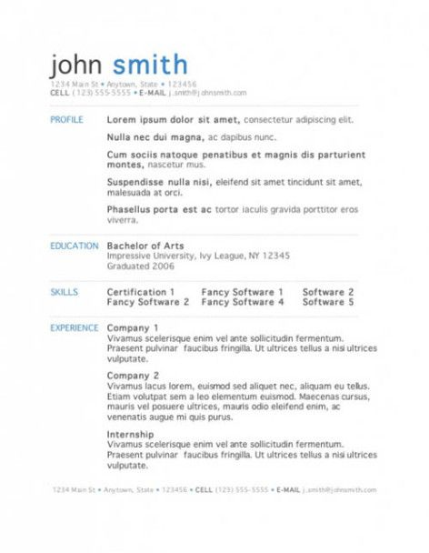Free Easy Resume Templates. Free Easy Resume Templates Template ...