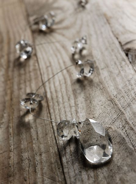 "3.99 SALE PRICE! Crystal Glass Garlands 14.5"" with Teardrop Crystal. Weighted…"