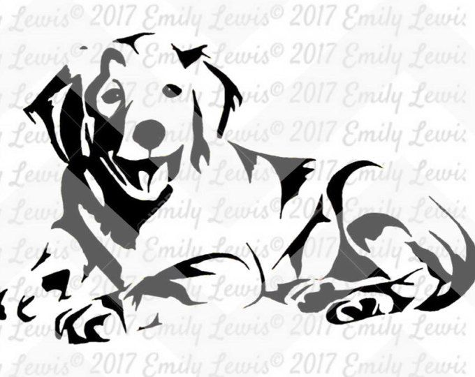 Golden Retriever Svg Golden Retriever Decal Dog Svgs Dog Car