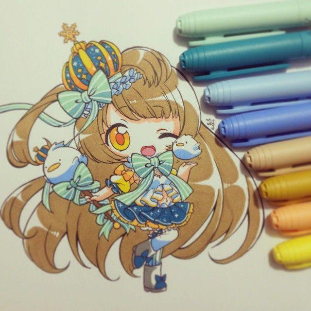 Kotori minami chan ~♥ Painted with pencil bic No quedo como queria, me comi un…