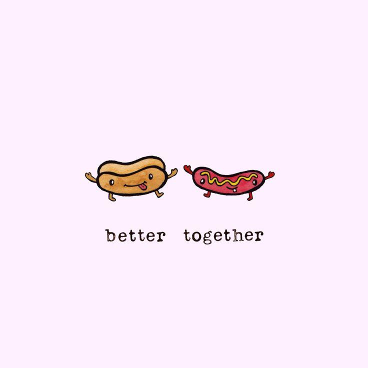 better together - roll + hotdog More