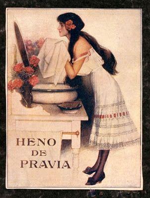 VINTAGE, EL GLAMOUR DE ANTAÑO: Publicidad Jabón Heno de Pravia