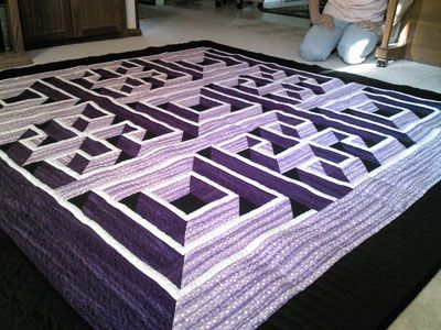 Labyrinth Quilt Pattern Free Download : 3D Maze Quilt Amazing quilts Pinterest Maze, Get started and Patterns