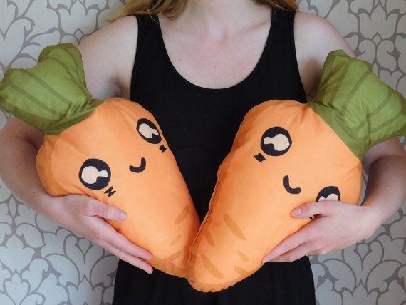 carrot pillow food pillow sweet carrot pillow by NiviaWorkshop