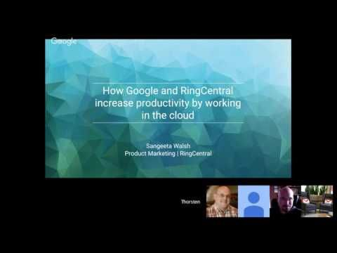 RingCentral and #Google: Enabling #Productivity by #Working Together in the #Cloud // #GoogleCloud #Gsuite #GoogleApps #Business #Technology #UCaaS