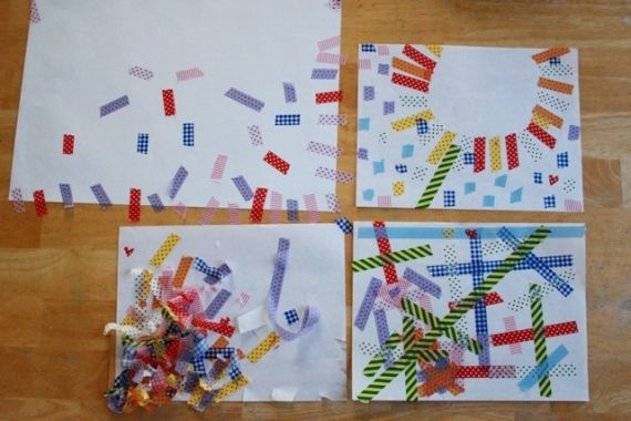 Washi Tape Art with Printed Masking Tape from the Artful Parent