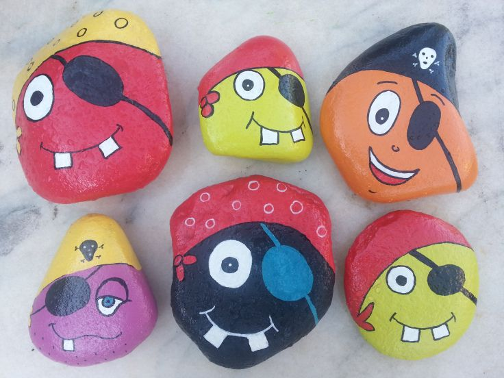 Painted Pirates on stone!