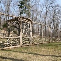 Woven branches deer fencing