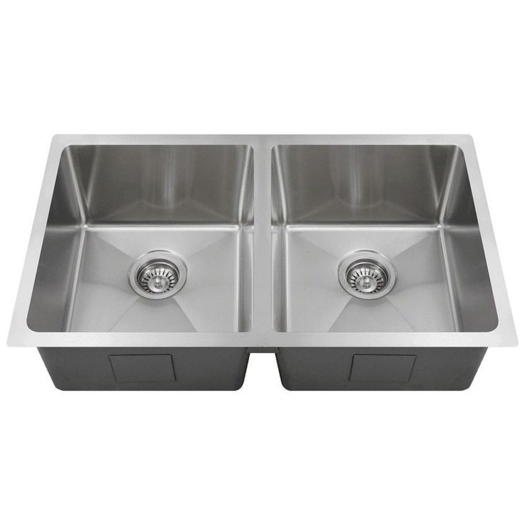 Mr Direct Undermount Stainless Steel 31 In Double Bowl Kitchen Sink 3120d 16