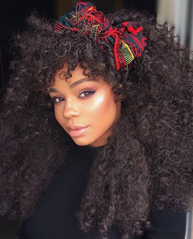 Kira long curly Afro natural hair