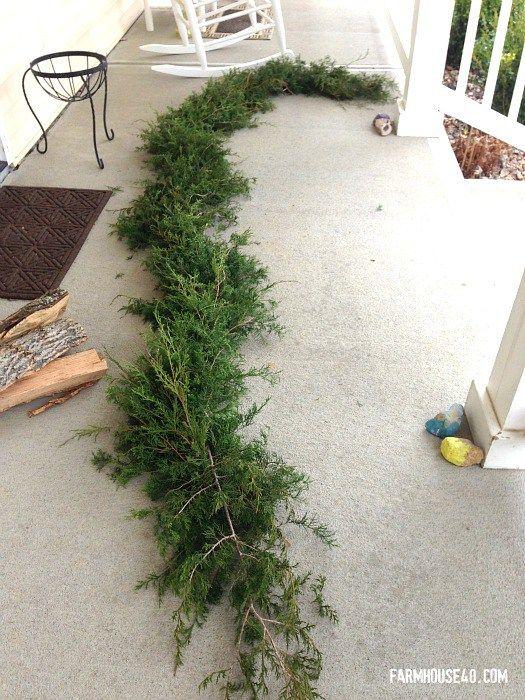 How to make a fresh cut cedar garland. Easy DIY Christmas decorations