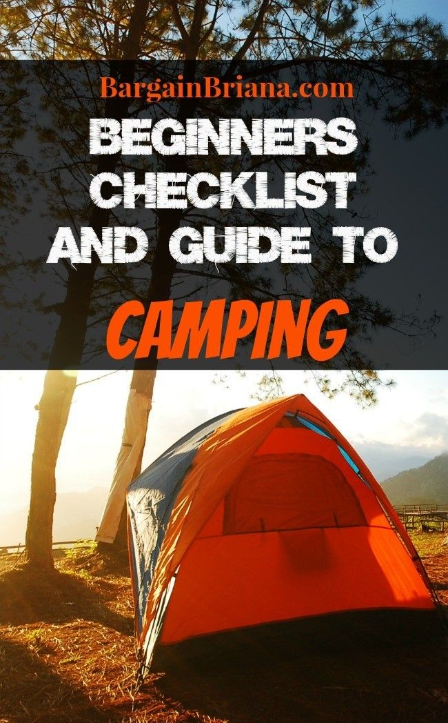 Beginners Checklist and Guide to Camping - BargainBriana