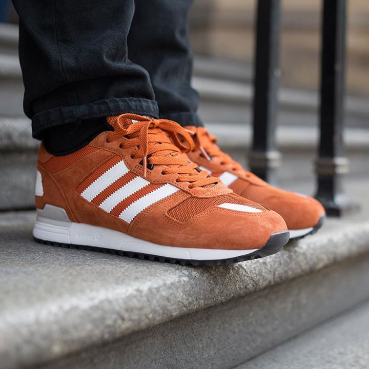 Limit Offer | Mens Adidas Originals Zx 700 Shoes Black Orange Adidas Originals Zx 700 Leather