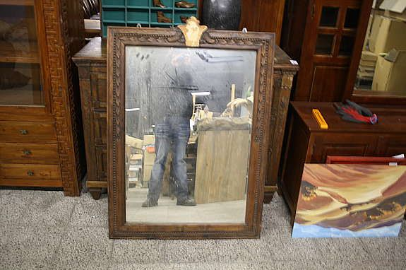 spiegel wandspiegel massiv teak holz antik retro kolonial