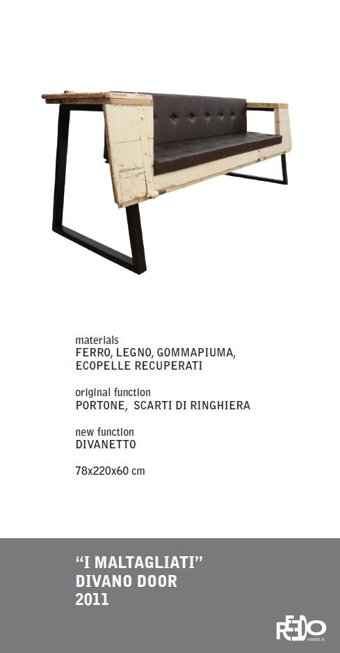 I Maltagliati divano Door, 2011  Fethi Atakol reuse desgin    Price and info: reedo@reedo.it