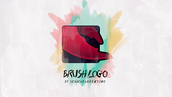 Brush Logo  (Abstract) #Envato #Videohive #aftereffects