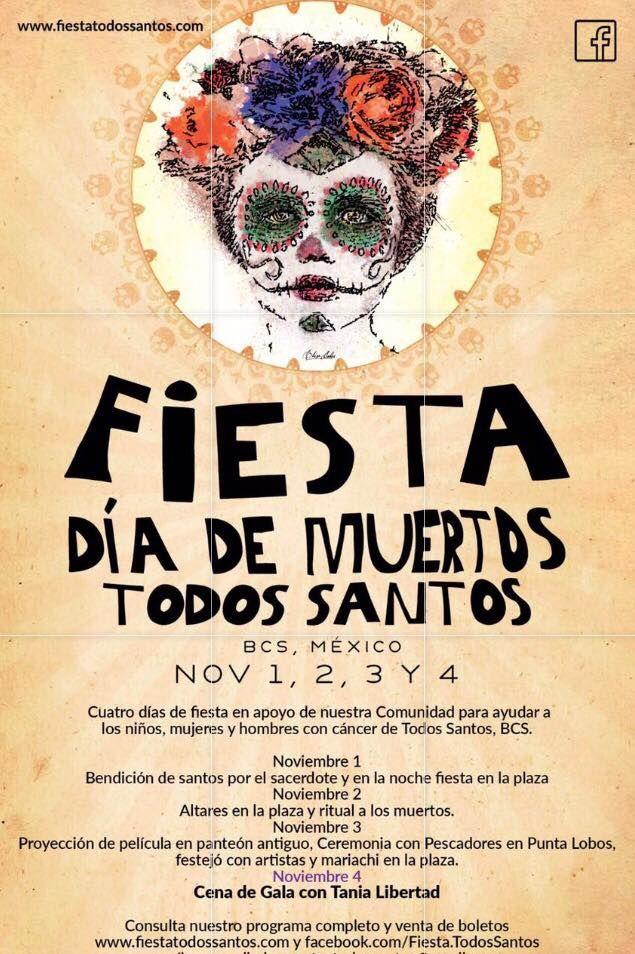 Fiesta Day Of The Dead Todos Santos 01 Nov Central Plaza Todos Santos Fiesta Dia De Fiesta Dia De Los Muertos