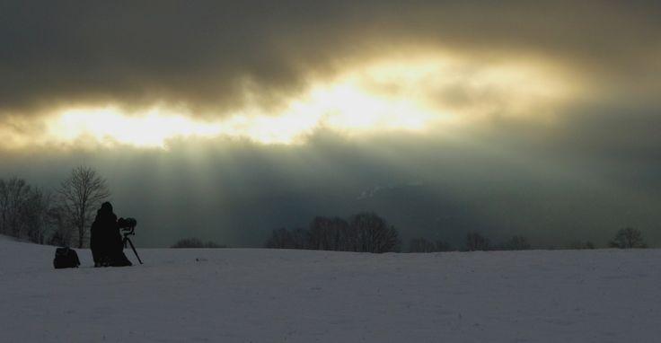 Un photographe animalier bredouille, mais un ciel pas moche du tout, Les Bayards, jan 2014