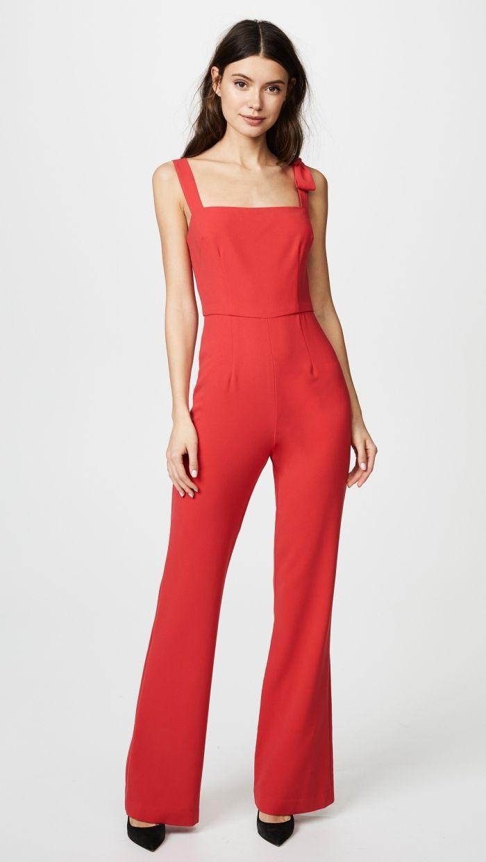 ▷ 1001 + exemples parfaits de combinaison pantalon femme chic   Mode femme    Bell Bottoms, Jumpsuit, Boots 58aa1b20d178