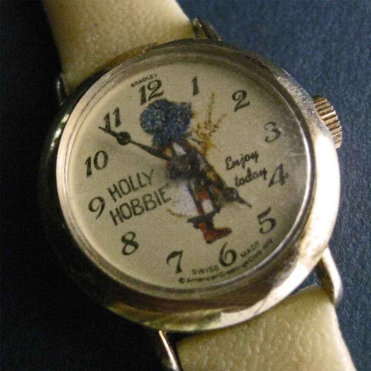 Holly Hobbie Watch. My very first watch ever. I remember a pink leather band, but that could've been a replacement one.