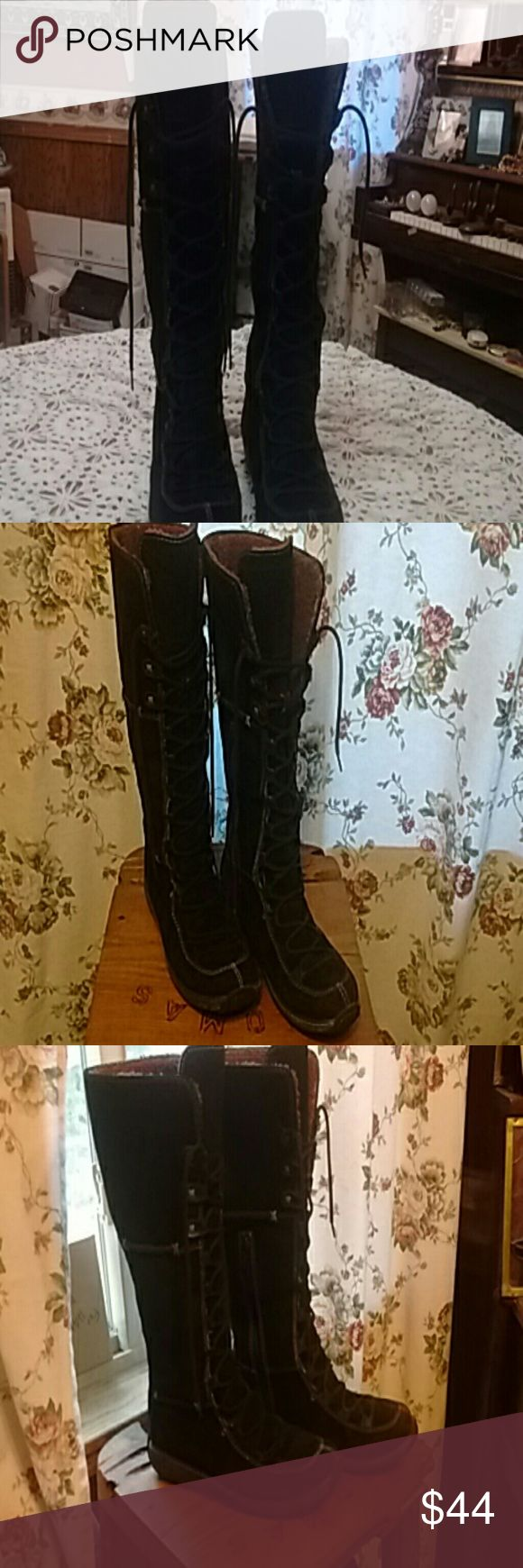 Boots( price non negotiable) Zip up on inside boot also lace up Timberland Shoes Lace Up Boots