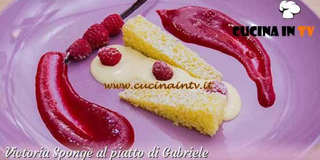 Victoria Sponge al piatto ricetta Gabriele da Bake Off Italia 3 | Cucina in tv