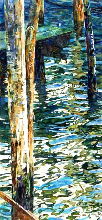 """Saatchi Online Artist: stephen zhang; Watercolor Painting """"Venice Alleys No. 5"""""""