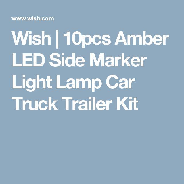Wish | 10pcs Amber LED Side Marker Light Lamp Car Truck Trailer Kit