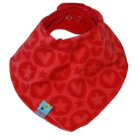 Scarf PopHearts red
