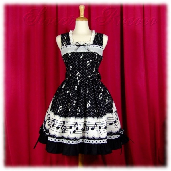 Music Note Lolita Dress found on Polyvore