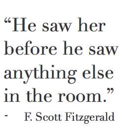 He saw her before he saw anything else in the room. @emmasusanno #TrueLoveisForever