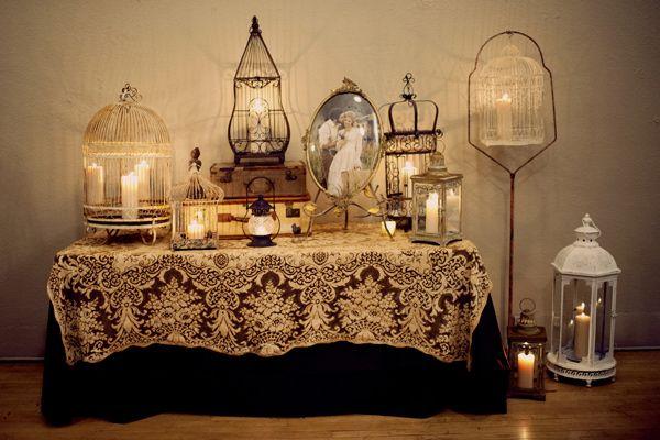 Vintage Romance Wedding - Birdcage for a centerpiece?