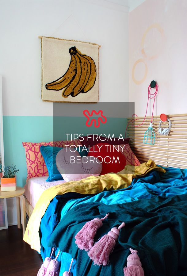 Extremely tiny bedrooms—like, not much bigger than the bed small—can be a challenge to decorate and arrange when you want to have a room that functions well and looks good. But Lisa Tilse of the blog We Are Scout made some smart and stylish decisions in her teenage daughter Roxy's 6.5'x8.75' bedroom.