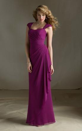 2014 New Fuchsia Long Bridesmaid Dress