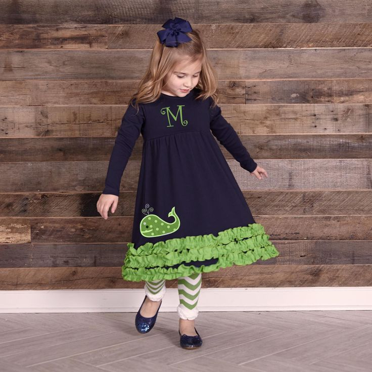 Swoon! Love this Navy Green Long Sleeve Squinchy Cotton Dress I discovered at lollywollydoodle.com and for only $22! Click the image above to get a $5 off coupon code for your next order!