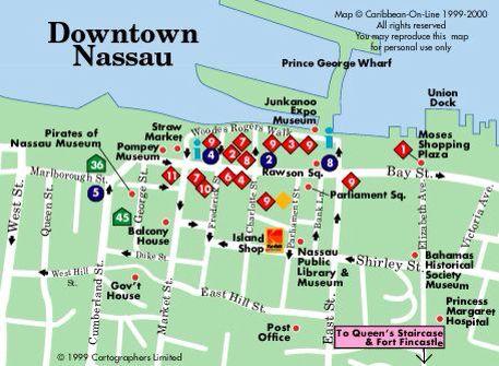 Downtown Nassau Map Cruising In 2019 Bahamas Cruise